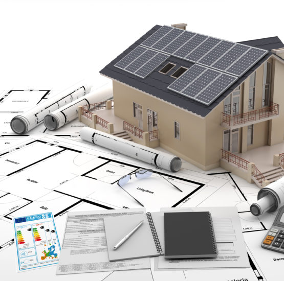 Símbolo de la energía solar como medio de producción de energía sostenible.